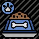animal, animals, bowl, dog, food, paw, pet