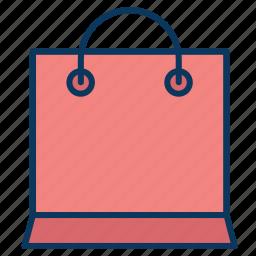bag, basket, decorative bag, papper bag, pouch icon