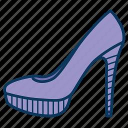 heels, shoe, shoes, woman's shoe, woman's shoes icon
