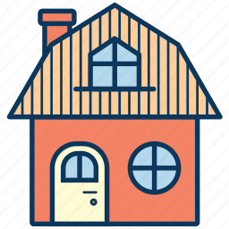 cottage, frame house, holiday house, home, house icon