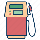 fuel dispensers, gas, gasoline, gasoline pump, hose icon