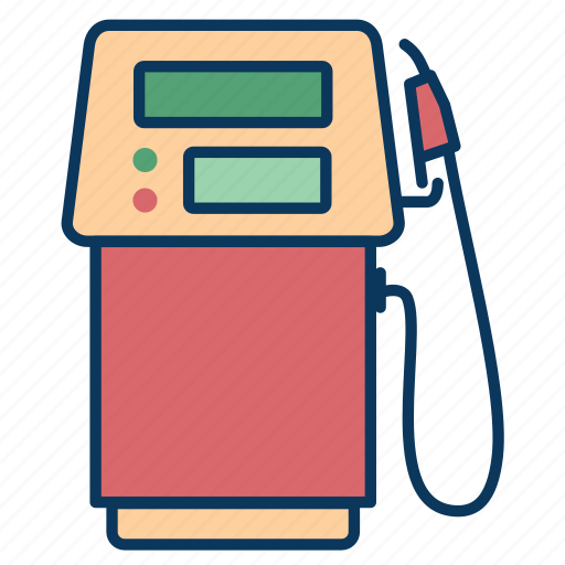 fuel dispensers, gas, gasoline, gasoline pump, hose icon