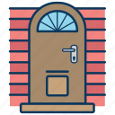 door, doors, entrance doors, front door, gate icon