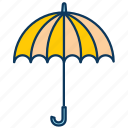 rain, rains, rainy day, snow, umbrella, weather icon
