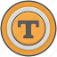 circle, pointer, round, service, t, taxi icon