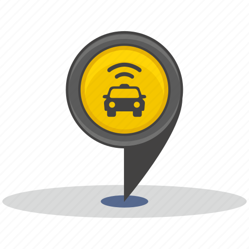 place, pointer, street, taxi icon