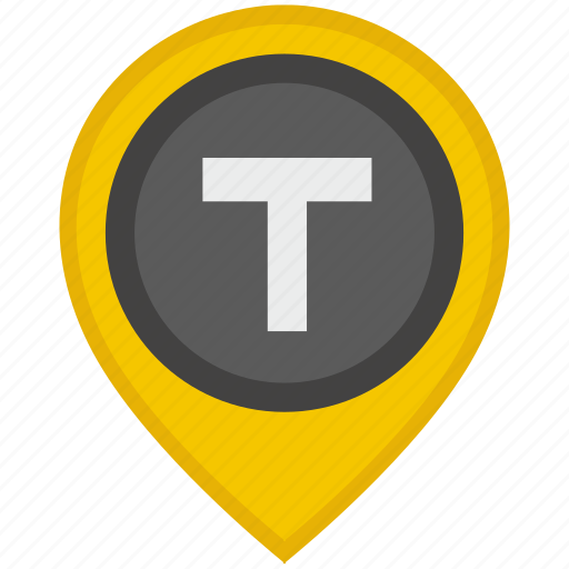 car, location, pointer, t, taxi icon