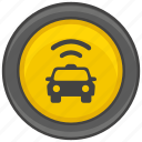 access, app, dot, internet, pointer, taxi, wifi icon