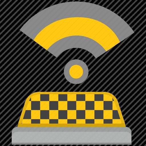 car, service, signal, taxi, wifi icon