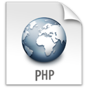 file, php, z icon