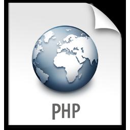 file, php, z icon
