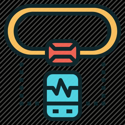chest, heart, mornitor, rate, strap icon