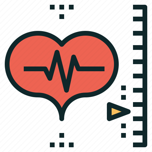 heart, mornitor, rate, scale, zone icon