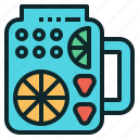 drink, fruit, healthy, infuse, water icon