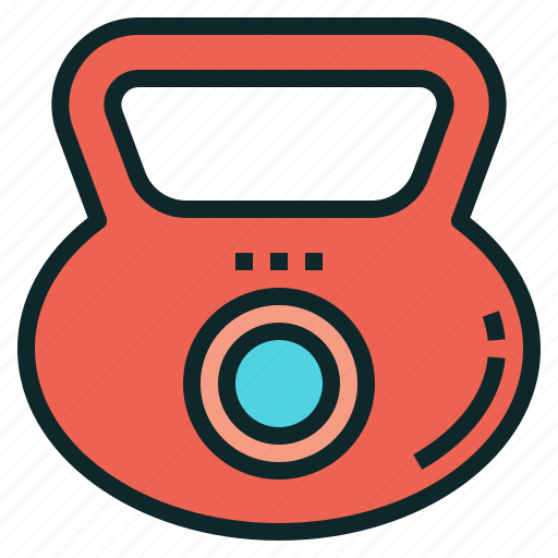 exercise, fitness, kettlebell, training, weight icon