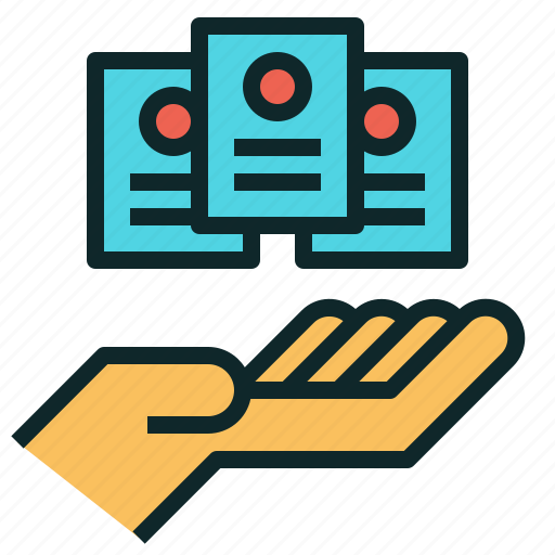 hand, offer, option, package, plan, service icon