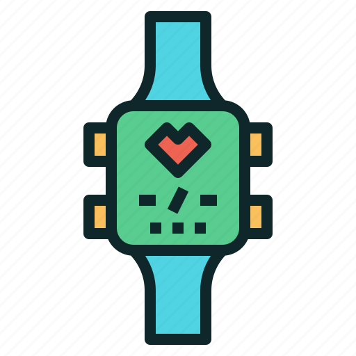 heart, mornitor, rate, smart, watch icon