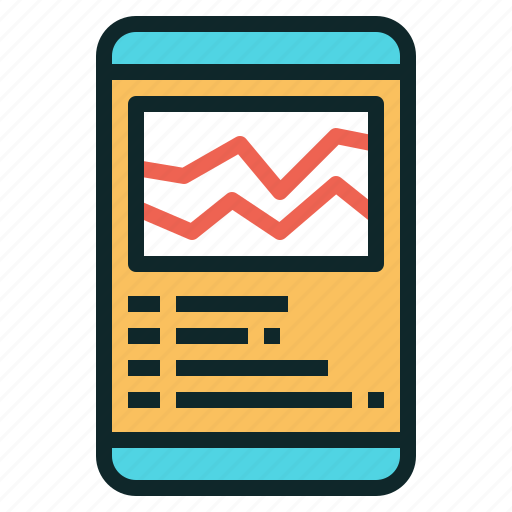 app, smartphone, sport, tracker icon