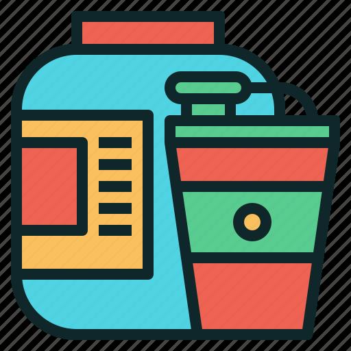 powder, protein, shaker, supplement icon
