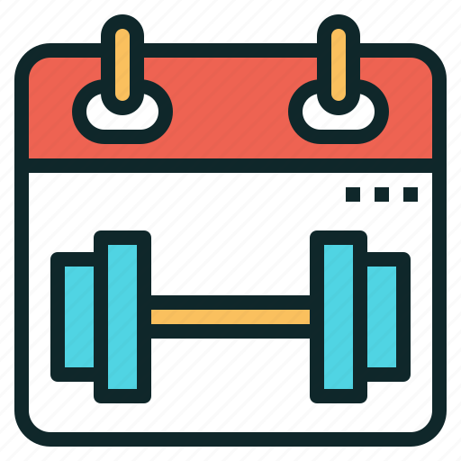 calendar, date, exercise, plan, schedule, workout icon