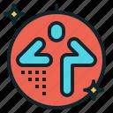 cardio, class, dance, exercise, fitness, zumba icon