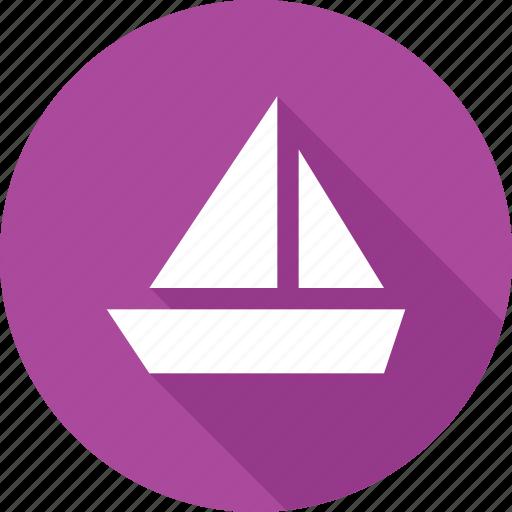 boat, sailboat, sailing, sea, ship, transport icon