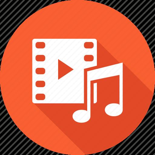 enjoyment, entertainment, media, movie, music, play, show icon
