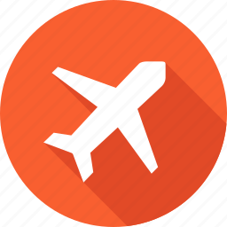 aircraft, fly, plane, transport, travel, trip, vacation icon