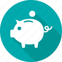 bank, banking, guardar, pig, piggy, save, saving, savings icon