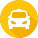automobile, cab, car, taxi, traffic, transport, wheel icon
