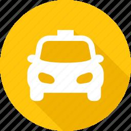 automobile, cab, car, taxi, traffic, transport, wheel icon