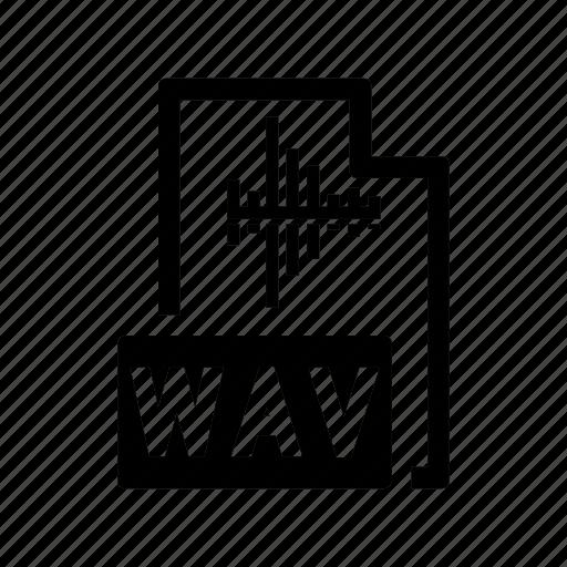 audio, extension, file, format, music, record, wav icon