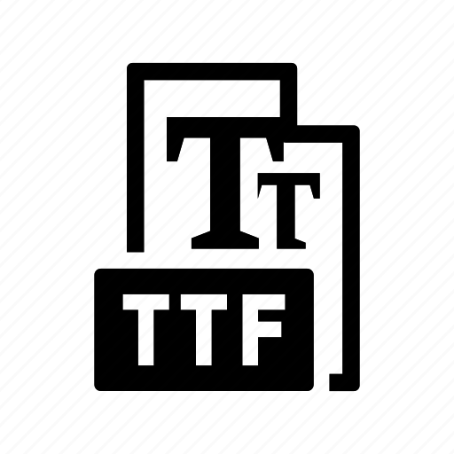 extension, file, font, format, ttf icon
