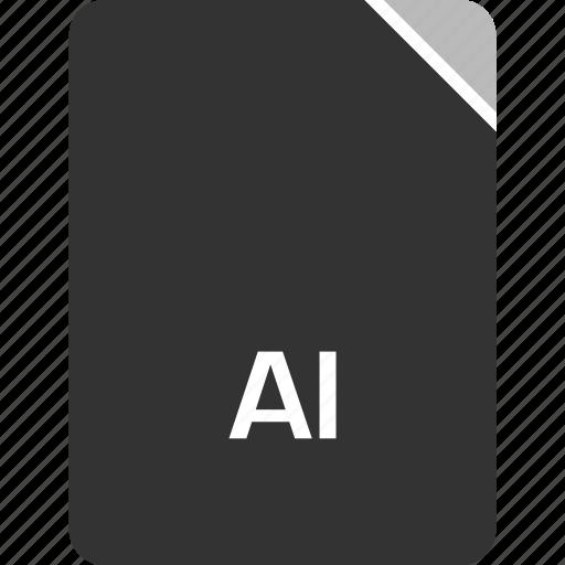 ai file, computer, file, tech icon