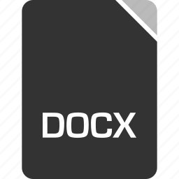 computer, docx, file, tech icon