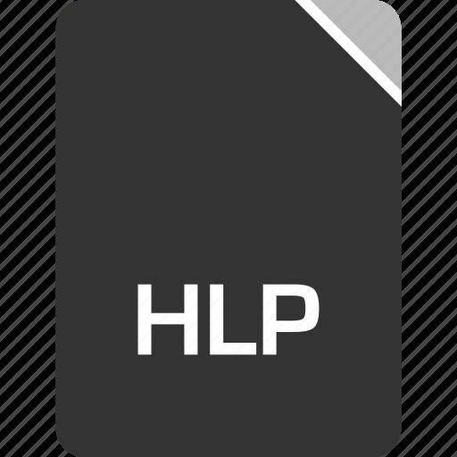 computer, file, hlp, tech icon