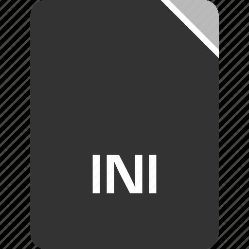 computer, file, ini, tech icon
