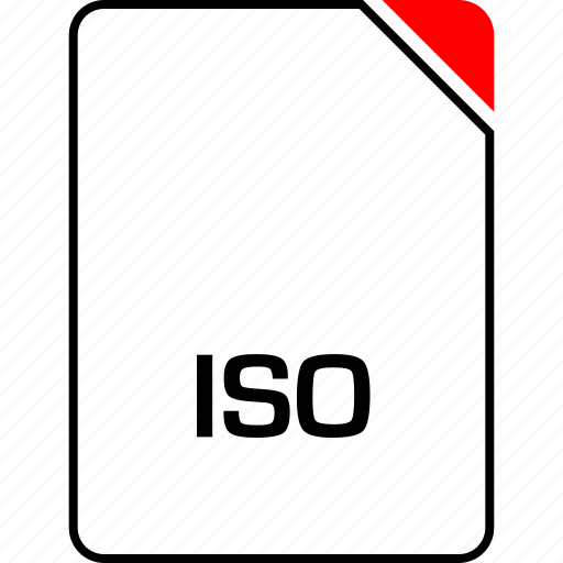 file, iso, name icon
