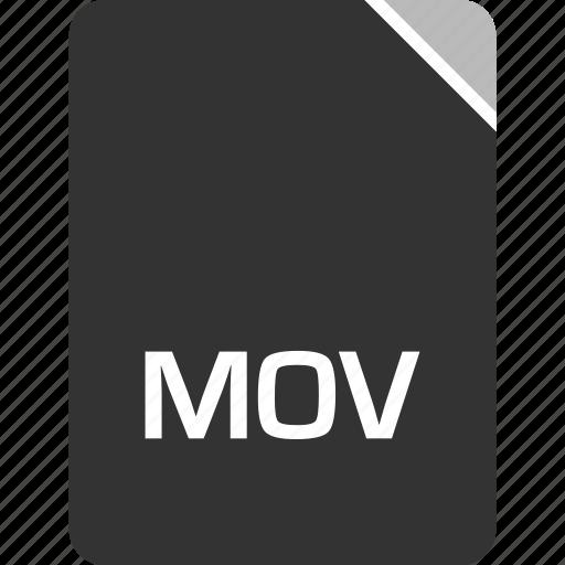 computer, file, mov, tech icon