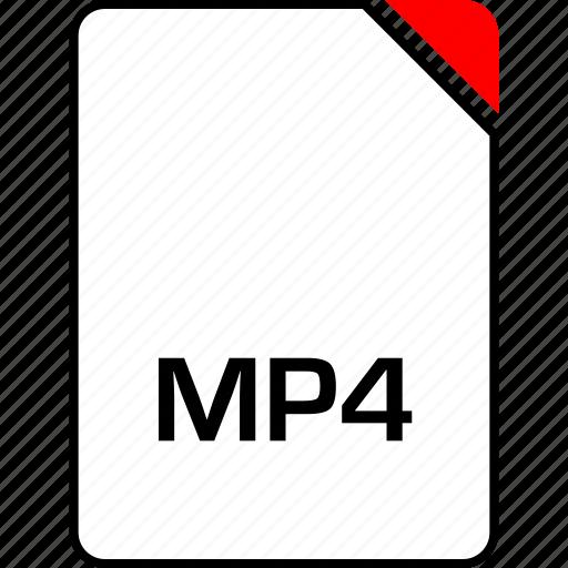 file, mp4, music, name icon