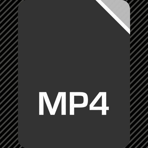 computer, file, mp4, tech icon