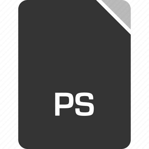 computer, file, ps, tech icon