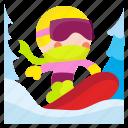 snowboarder, snowboard, extreme, snow, snowboarding icon