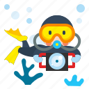 diver, diving, scuba, sport, underwater