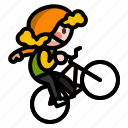 bicycle, bike, cycle, fixedgear, sport icon