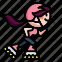 inline, inlineskate, roller, skate, skating