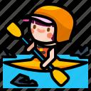 canoeing, kayak, kayaking, sport, water
