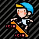 skateboarding, skateboard, extreme, sport, skateboarder