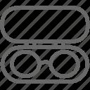 eye, eyeglasses, glasses, glasses box, ophthalmology, sunglasses, vision icon