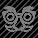 eye, fancy, fun, glasses, party icon